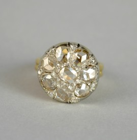 HEIRLOOM 3.0 CT DUTCH ROSE CUT DIAMOND RARE VICTORIAN RING 1880 CA!