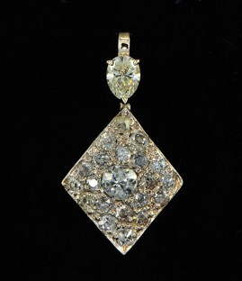 SPECTACULAR ART DECO 2.0 FULL CARATS OF OLD CUT DIAMOND UNIQUE PENDANT!