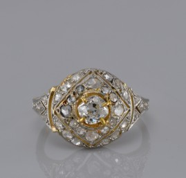 SPECTACULAR GENUINE EDWARDIAN 1.55 DIAMOND DISTINCTIVE RING!