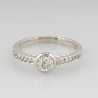 GORGEOUS ART DECO STYLE .60 CT OLD CUT DIAMOND G VS SOLITAIRE RING!