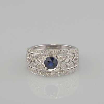 FABULOUS SAPPHIRE AND DIAMOND FINE MODERN RING OF YOUR DREAMS!