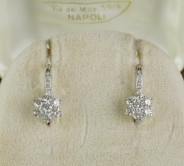 FANTASTIC 1.20 CT QUALITY DIAMOND SPARKLY DAISY DIAMOND DROP EARRINGS!