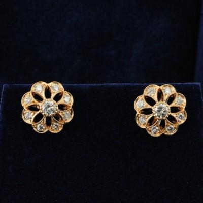 FABULOUS 1.20CT DIAMOND G/VVS DAISY EARRINGS