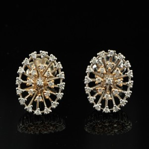 SPECTACULAR 1.25CT DIAMOND LARGE STARBURST EARRINGS