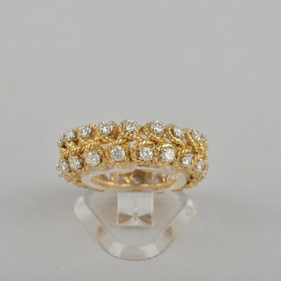 HIGHLY SOPHISTICATE VINTAGE OUT 60'S 1.60 CT DIAMOND ONE OFF ETERNITY RING!