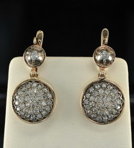 VICTORIAN DELIGHTFUL 3.0 CT OLD CUT DIAMOND LONG SWING EARRINGS!