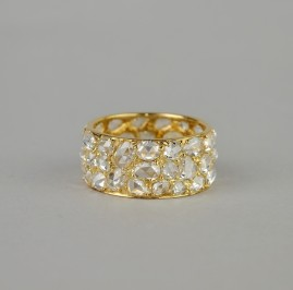 THE MOST SPECTACULAR ANTIQUE 7.0 CT ROSE CUT F VVS DIAMOND ETERNITY RING!
