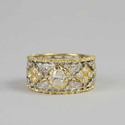SENSATIONAL 1.0 TCW G VS DIAMOND SOLITAIRE FINE LACE WORK RING!