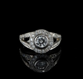 SPECTACULAR 1,56 CT OLD CUT DIAMOND VINTAGE RING!