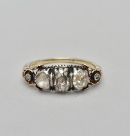 GENUINE GEORGIAN 1790 AUSTRIAN DIAMOND TRILOGY RING -RARE!