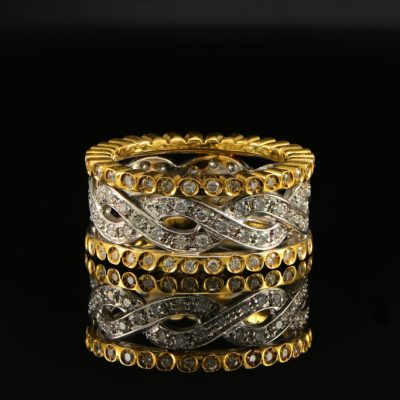 CHARMING 2.20 CT DIAMOND FULL ETERNITY RING SYMBOLIZING FOR EVER!