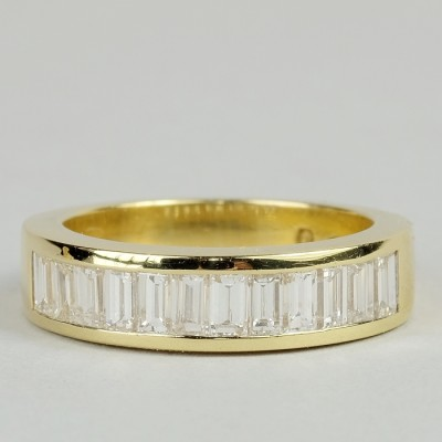 SENSATIONAL 1.45 CT BAGUETTE DIAMOND F IF THE VERY BEST HALF ETERNITY RING!