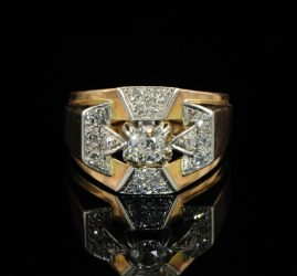 ART DECO DIAMOND EXTRA BUCKLE RING