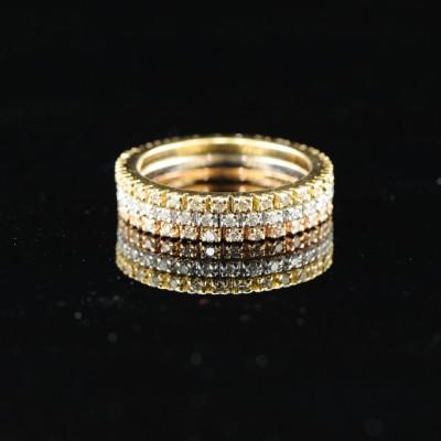 SPECTACULAR TRIO OF ETERNITY DIAMOND RING