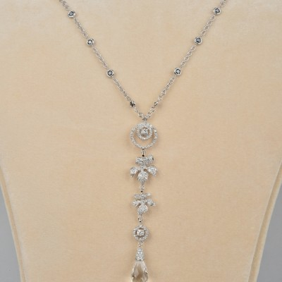 SIGNED LEO PIZZO SUPERB 4.50 CT DIAMOND NECKLACE OF HIGH CLASS!