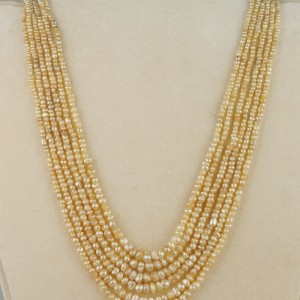 SPECTACULAR VICTORIAN SIX STRAND NATURAL BASRA PEARL NECKLACE 49.2 GRAMS!