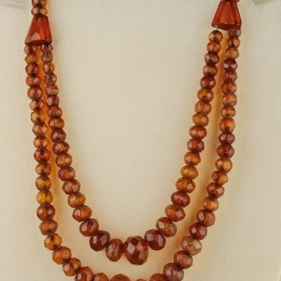 MOST CHARMING 1920 NATURAL BALTIC AMBER DOUBLE STRAND RARE NECKLACE!
