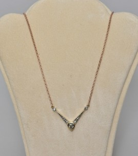 GENUINE VICTORIAN .85 CT OLD DIAMOND SOLITAIRE AND MORE 1900 NECKLACE!