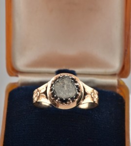 Rare Georgian 1.00 Ct solitaire rose cut diamond ring