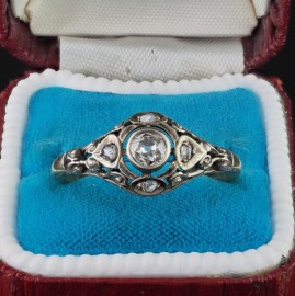 GENUINE EDWARDIAN DISTINCTIVE OLD MINE DIAMOND RARE SOLITAIRE RING!