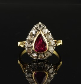 Have one to sell? Sell it yourself Details about  GENUINE VICTORIAN 1.05 CT ROSE CUT DIAMOND 1900 CA RING!