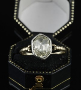 EXTREMELY RARE 1760 GEORGIAN 1.75 CT DIAMOND SOLITAIRE RING BEST EVER!