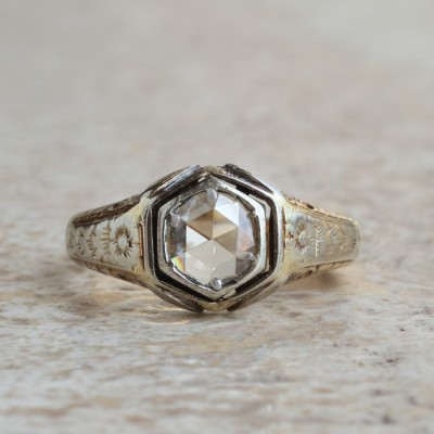 AUTHENTIC EDWARDIAN 1.70 CT DIAMOND SOLITAIRE RARE GENT RING!