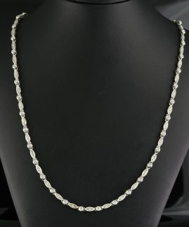 APPEALING 1.60 CT FULL DIAMOND G VVS SIGNED VINTAGE NECKLACE!