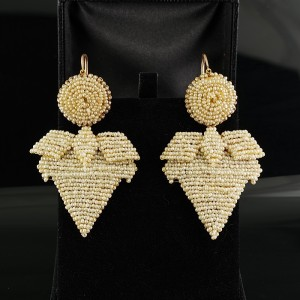 RARE GEORGIAN 22KT SEED PEARL GIRANDOLES SOUTHERN ITALY EARRINGS!