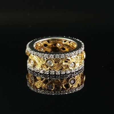 18KT FANTASTIC IVY DIAMOND FULL ETERNITY RING