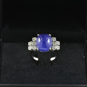 ICONIC 9.70 CT NATURAL SAPPHIRE &  1.0 CT DIAMOND RARE VINTAGE RING!