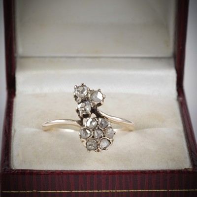 GORGEOUS VICTORIAN .80 CT ROSE CUT DIAMOND CHARMING RING 1880 CA!