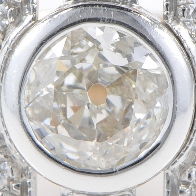 EXCELLENT 1.50 CT GENUINE ART DECO DIAMOND SOLITAIRE RING PLATINUM 18 KT!