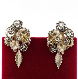 AUTHENTIC GEORGIAN ROCOCO DIAMOND GIRANDOLE EARRINGS!