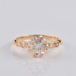 AUTHENTIC VICTORIAN 1.40 CT DIAMOND CLUSTER RING 1900 Ca!