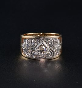 AUTHENTIC VICTORIAN .60 CT ROSE CUT DIAMOND RARE RING 1900 ca!