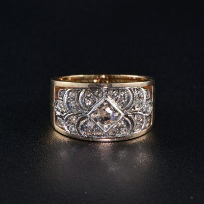 AUTHENTIC VICTORIAN .60 CT ROSE CUT DIAMOND RARE RING 1900 ca!