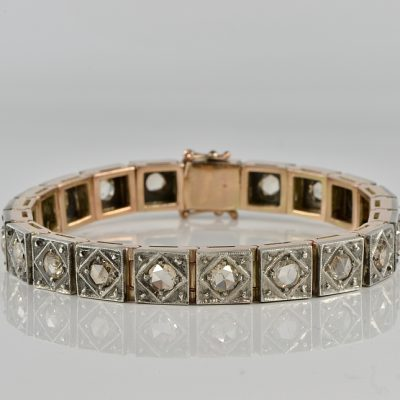 AUTHENTIC VICTORIAN 10.0 CT DUTCH ROSE CUT DIAMOND SPREAD BRACELET!