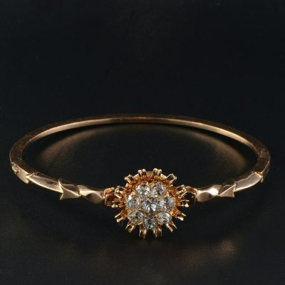 EXTREMELY FINE RARE VICTORIAN 2.50 CT VVS/VS DIAMOND BANGLE 1880!