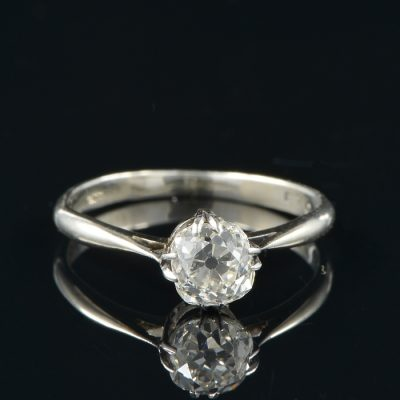 ART DECO 1.10 CT G VVS DIAMOND SOLITAIRE RING!