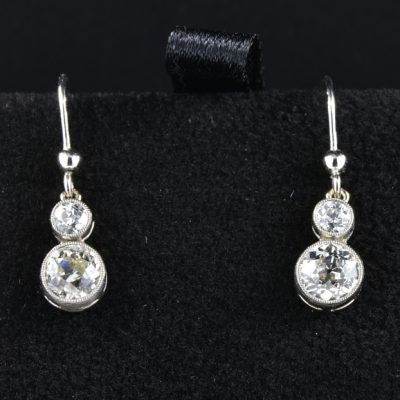 ART DECO 1.70 CT DIAMOND G VVS SWING DROP EARRINGS!