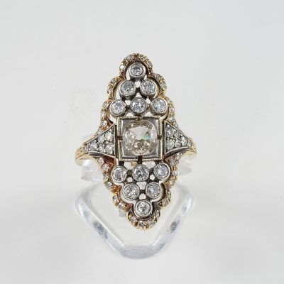 EDWARDIAN 1.70 CT DIAMOND DISTINCTIVE NAVETTE RING!