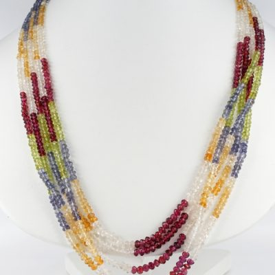 ANTIQUE MULTISRAND NATURAL NOT TREATED TOURMALINE NECKLACE!