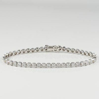 SUPERB 3.70 CT OLD CUT DIAMOND VINTAGE TENNIS BRACELET!
