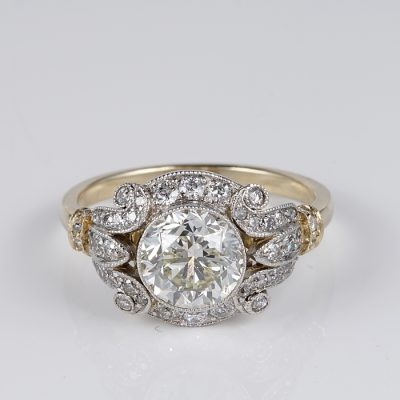 MAGNIFICENT EDWARDIAN 2.10 CT PLUS J VVS2 DIAMOND SOLITAIRE!