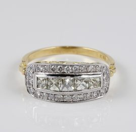 EDWARDIAN DISTINCTIVE 1.60 CT DIAMOND FIVE STONE ANNIVERSARY RING!