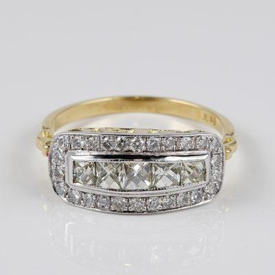 EDWARDIAN DISTINCTIVE 1.60 CT DIAMOND FIVE STONE ANNIVERSARY RING!