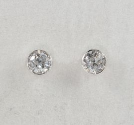 GORGEOUS EDWARDIAN .70 CT DIAMOND G/H SI STUDS