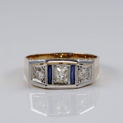 EDWARDIAN AUSTRO HUNGARIAN .70 CT DIAMOND TRILOGY RING!