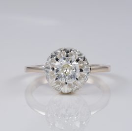 EDWARDIAN .70 CT DIAMOND PLUS RARE FLOWER HEAD DIAMOND RING!